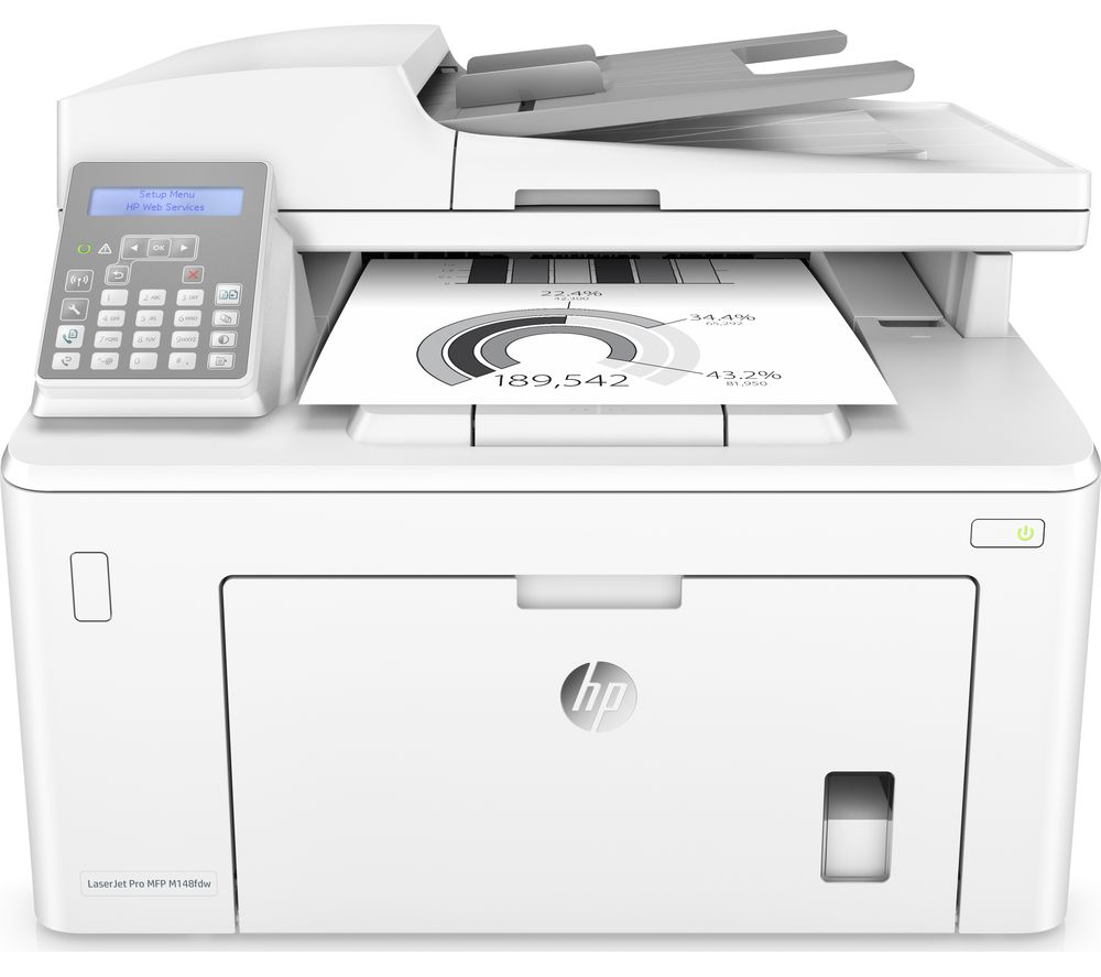 HP LaserJet Pro M148fdw All-in-One Laser Monochrome Printer with Fax