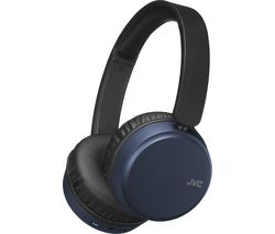 JVC HA-S65BN-A-U Wireless Bluetooth Noise-Cancelling Headphones - Blue