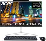 £1299, ACER Aspire Z24 23.8inch All-in-One PC - Intel® Core™ i7, 1 TB HDD & 256 GB SSD, Silver, Achieve: Fast computing with the latest tech, Intel® Core™ i7-8700T Processor, RAM: 8GB / Storage: 1 TB HDD & 256GB SSD, Full HD touchscreen,