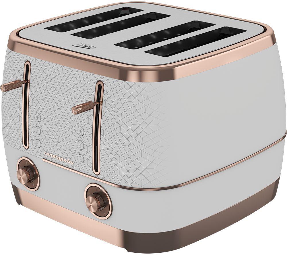 BEKO Cosmopolis TAM8402W 4-Slice Toaster - White, White