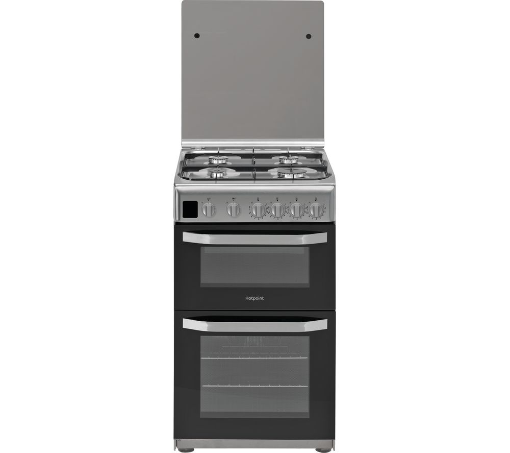 HOTPOINT HD5G00CCSS 50 cm Gas Cooker - Silver, Silver