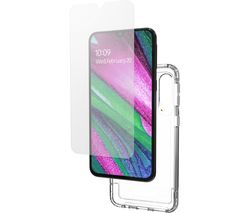 GEAR4 Wembley Galaxy A40 Case & InvisibleShield Glass+ Screen Protector Bundle