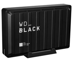 _BLACK D10 External Game Drive - 8 TB, Black