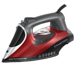 RUSSELL HOBBS One Temperature 25090 Steam Iron - Black & Red