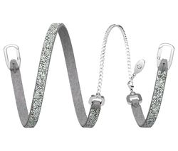Swarovski Leaf Crystal Bracelet - Silver