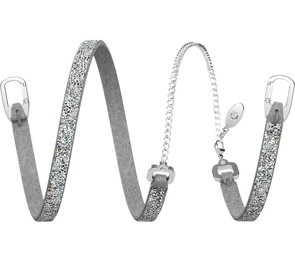 BELLABEAT Swarovski Leaf Crystal Bracelet - Silver