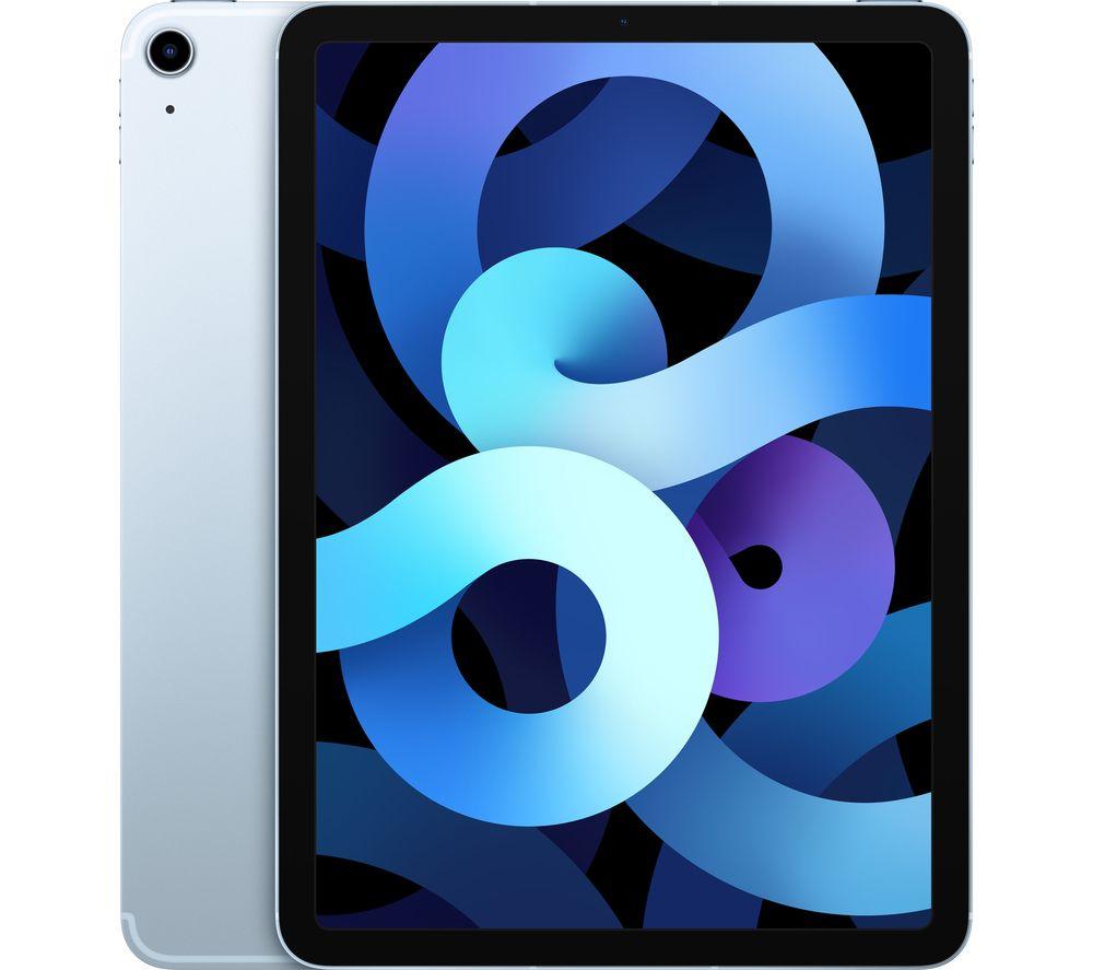 "Image of APPLE 10.9"" iPad Air Cellular (2020) - 64 GB, Sky Blue, Blue"