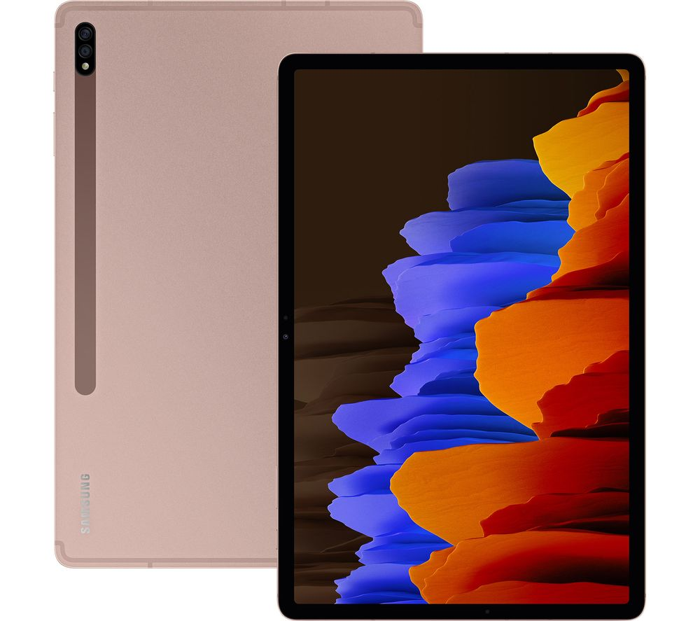 "Image of Samsung Galaxy Tab S7 11"" Tablet - 128 GB, Mystic Bronze, Bronze"