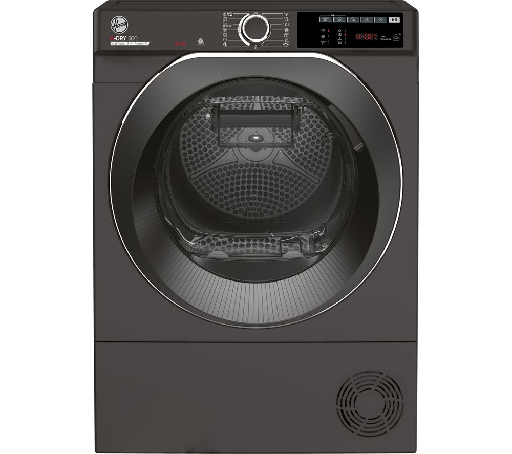 HOOVER H-Dry 500 ND H10A2TCBER WiFi-enabled 10 kg Heat Pump Tumble Dryer - Graphite, Graphite