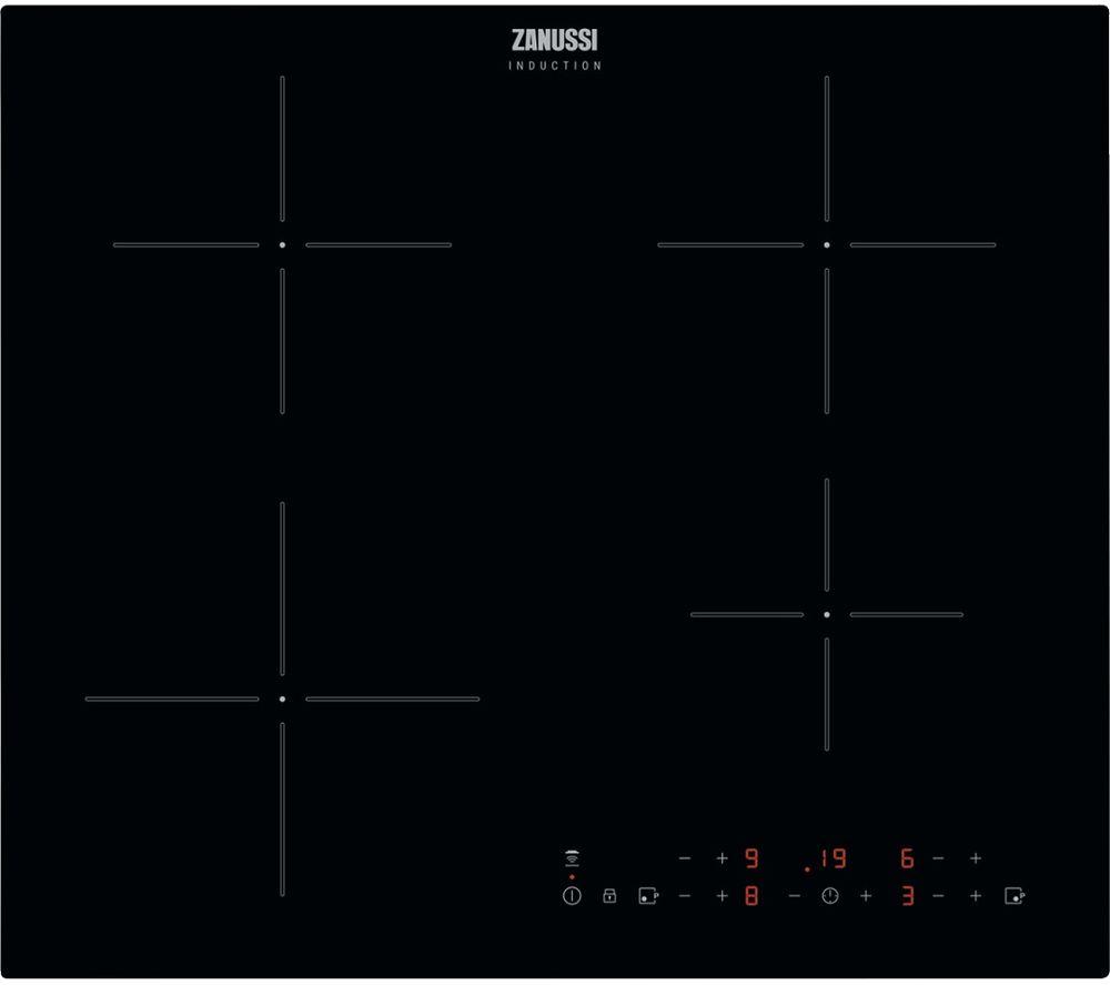 ZANUSSI Hob2Hood ZITN643K Electric Induction Hob - Black, Black