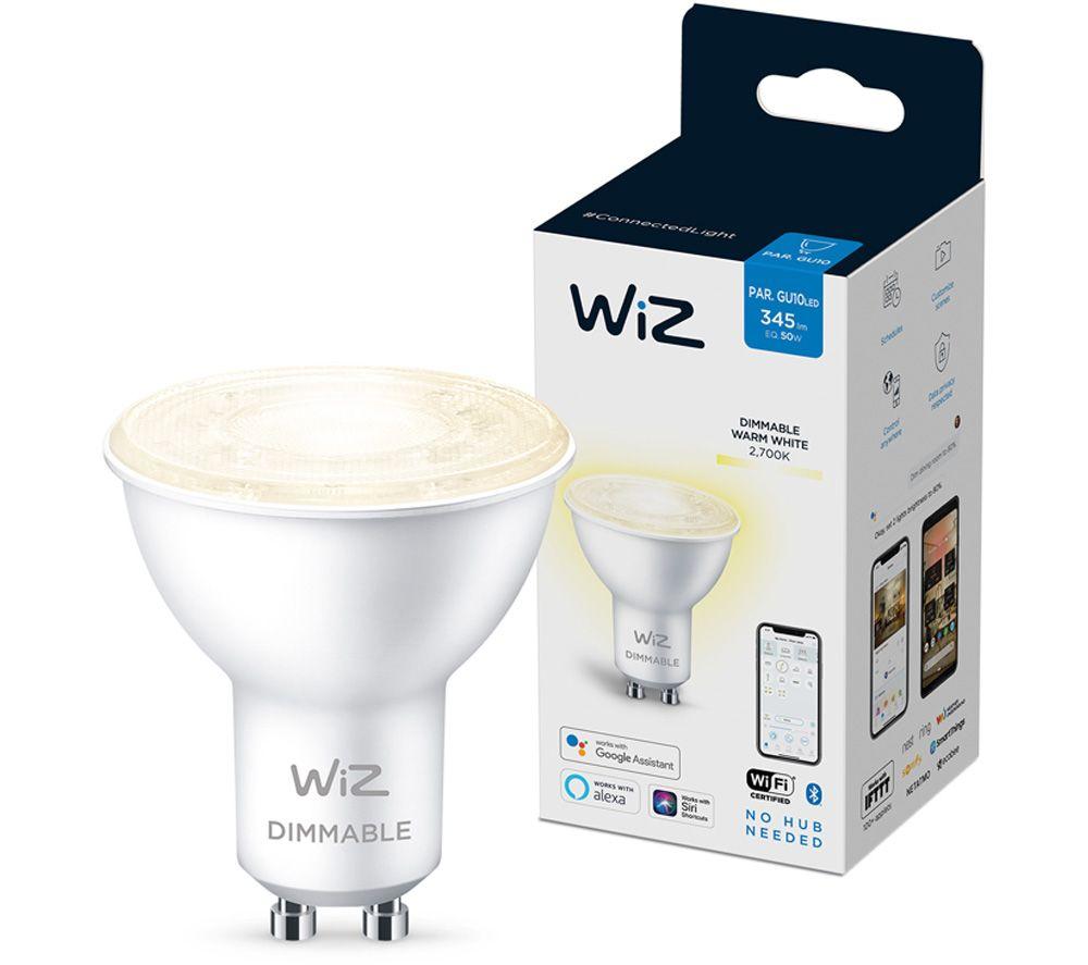 WIZ CONNECTED White Smart Spotlight Bulb - GU10