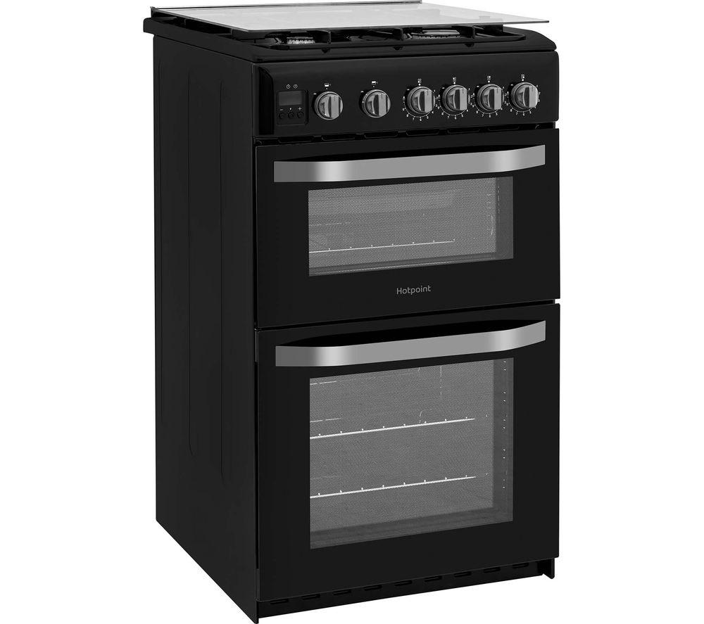 HOTPOINT HD5G00CCBK/UK 50 cm Gas Cooker - Black