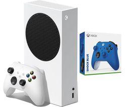 Xbox Series S & Xbox Wireless Controller (Shock Blue) Bundle - 512 GB SSD