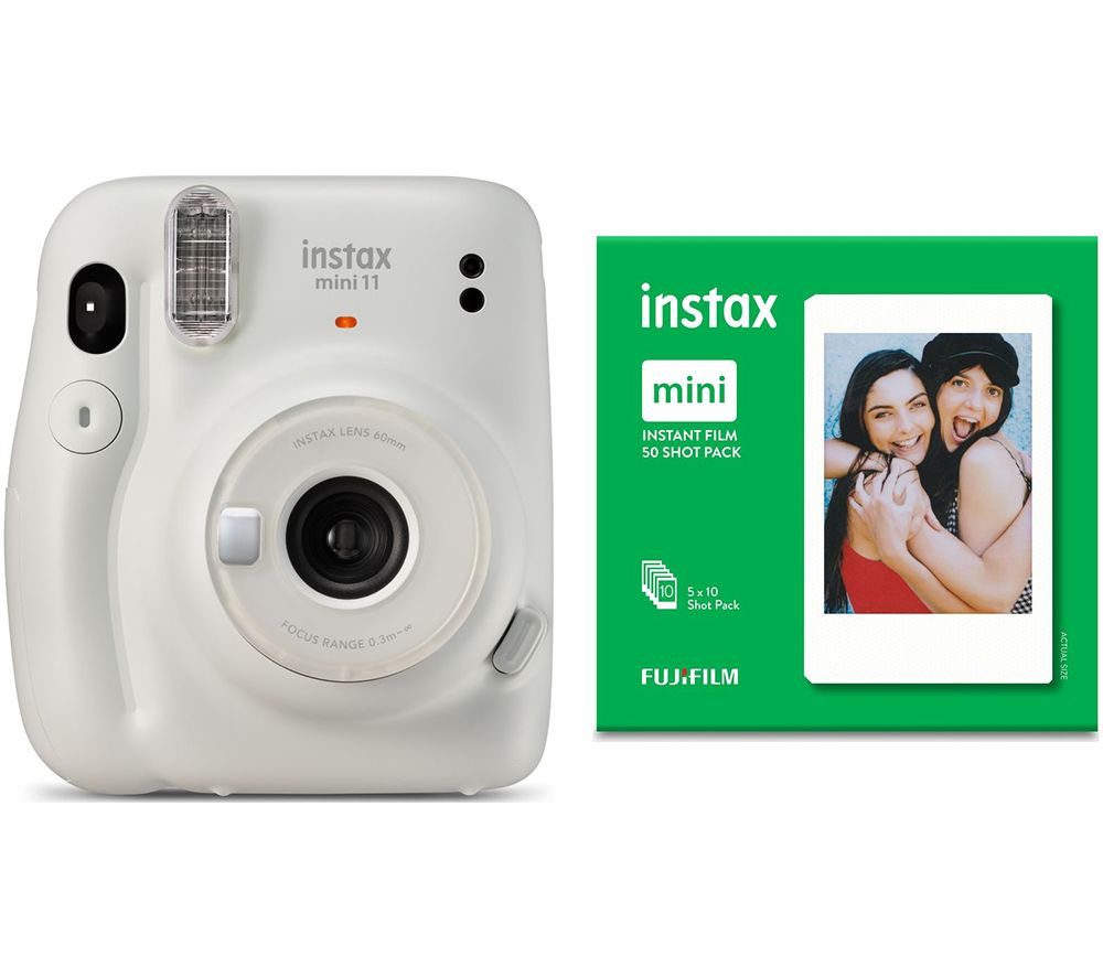 Click to view product details and reviews for Instax Mini 11 Instant Camera 50 Shot Mini Film Pack Bundle Ice White White.