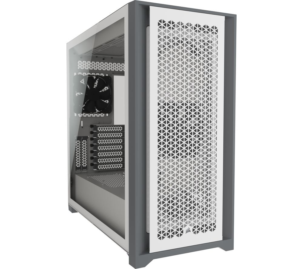 Image of CORSAIR 5000D AIRFLOW Tempered Glass ATX Mid-Tower PC Case - White, White