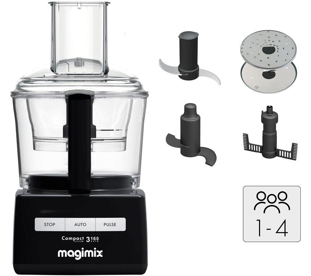 MAGIMIX C3160 Food Processor - Black, Black