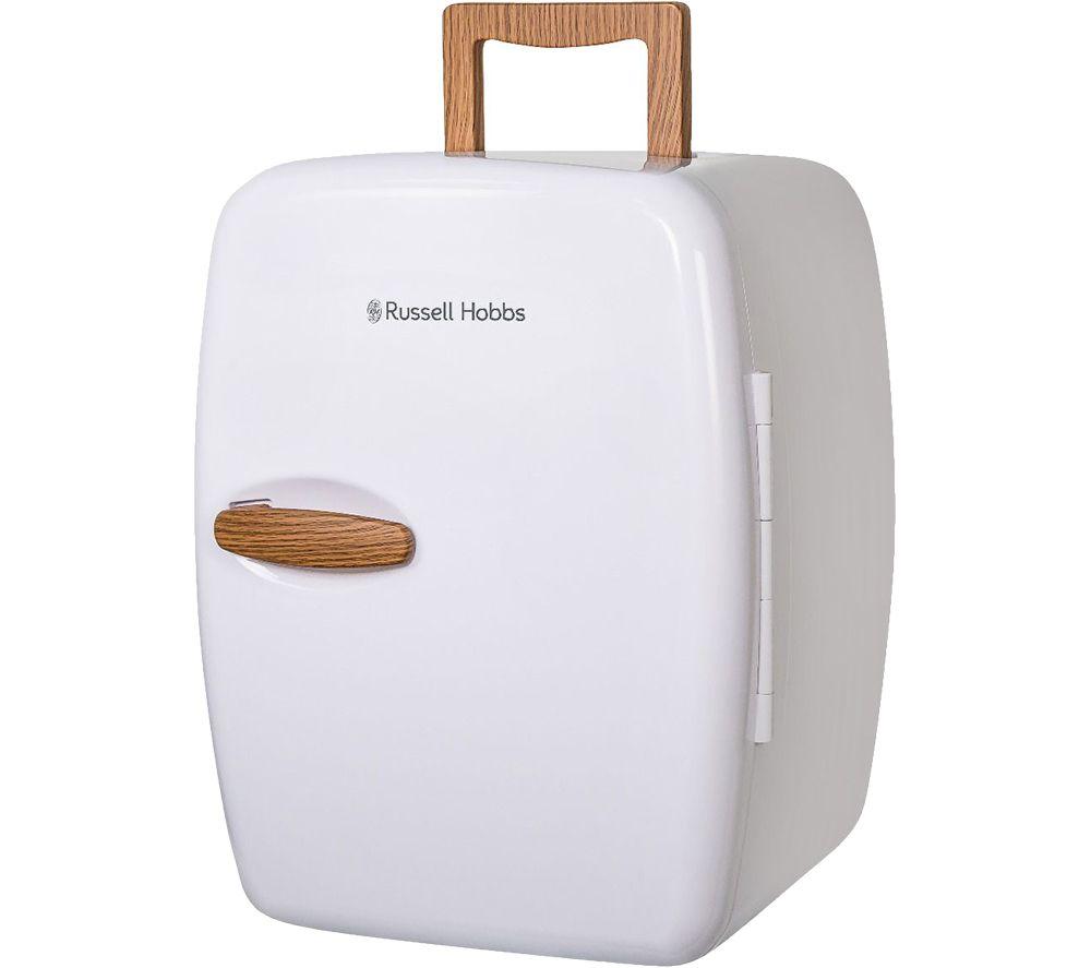 RUSSELL HOBBS Retro RH14CLR4001SCW Portable Beauty Cooler & Warmer - White & Wood