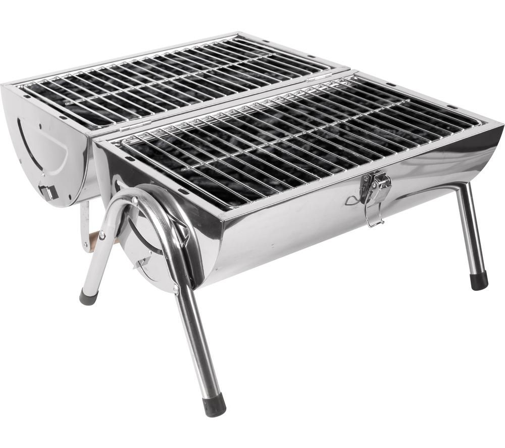 TOWER T978515 Portable Charcoal Drum BBQ - Silver