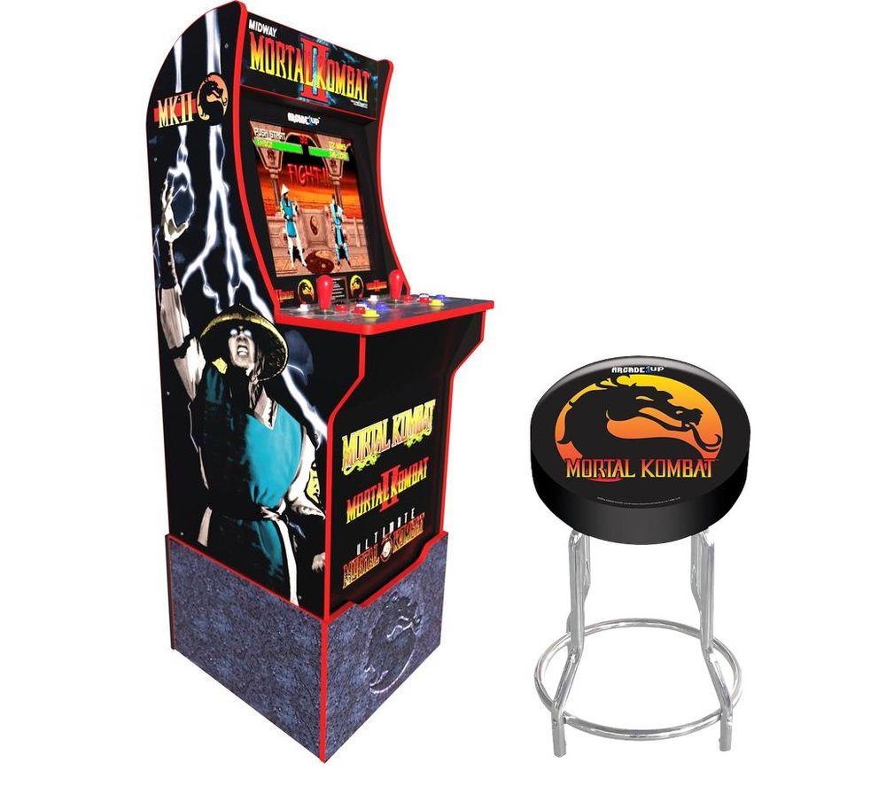 ARCADE1UP Mortal Kombat Arcade Cabinet & Gaming Stool Set