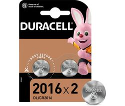 DURACELL 2016 DL2016/CR2016 Lithium Batteries - Pack of 2