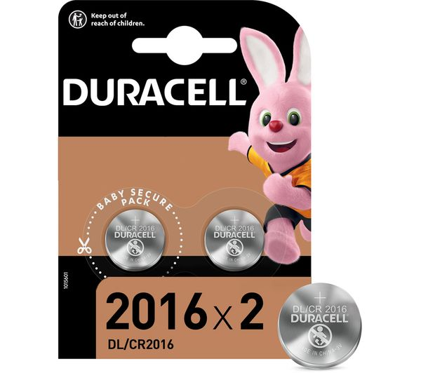 Image of DURACELL 2016 DL2016/CR2016 Lithium Batteries - Pack of 2
