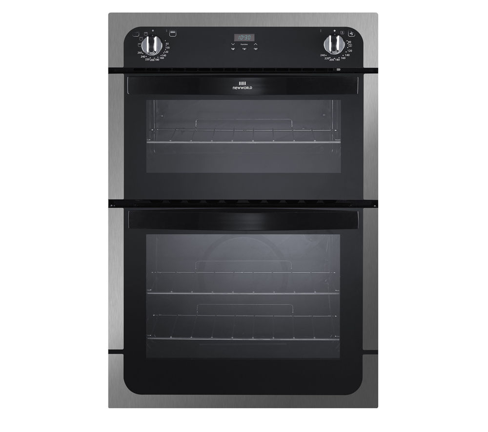 NEW WORLD NW901DOP Electric Double Oven - Black & Stainless Steel