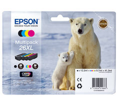 EPSON Polar Bear T2636 XL Cyan, Magenta, Yellow & Black Ink Cartridge - Multipack
