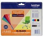 BROTHER LC229XLDSVALBPRF Tri-colour & Black Ink Cartridges - Multipack