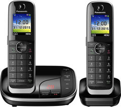 PANASONIC KX-TKJ322EB Cordless Phone with Answering Machine - Twin Handsets