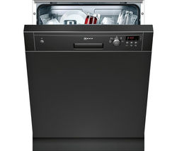 NEFF S41E50S1GB Full-size Semi-integrated Dishwasher - Black