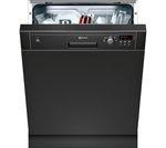 NEFF S41E50S1GB Full-size Semi-integrated Dishwasher - Black