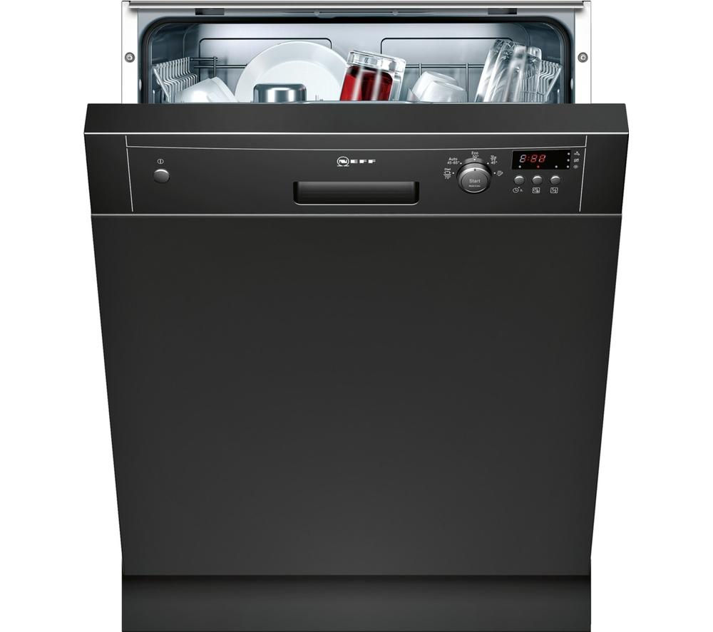 NEFF S41E50S1GB Full-size Semi-integrated Dishwasher - Black, Black