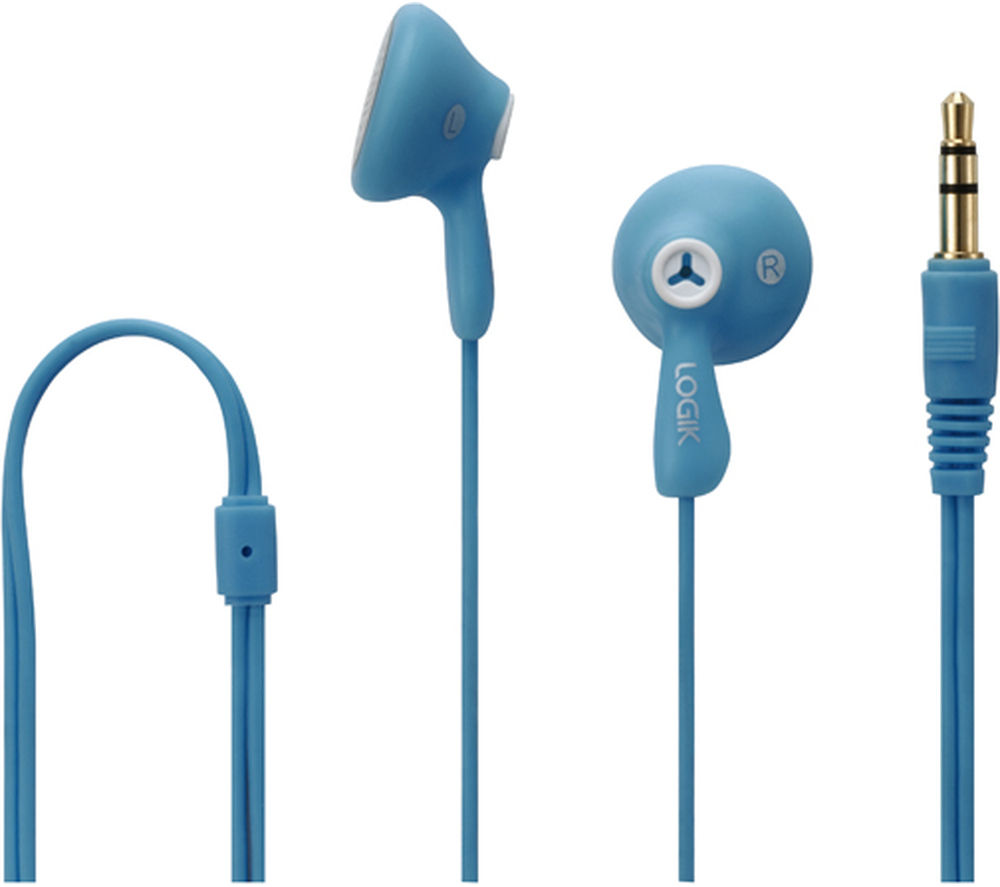 LOGIK Gelly LGELBLU16 Headphones – Blue specs