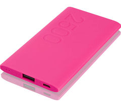 GOJI G25PBPK16 Portable Power Bank - Pink