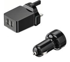 LOGIK L34AKIT16 Universal USB Battery Car & Wall Charger Kit