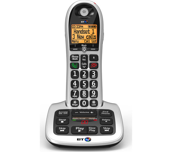 bt 4600 cordless phone with answering machine deals pc world. Black Bedroom Furniture Sets. Home Design Ideas