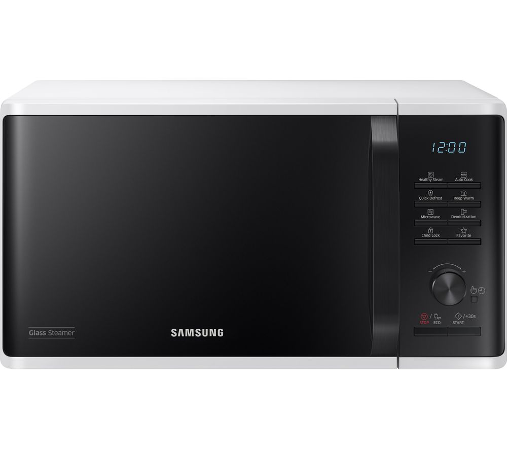 Image of SAMSUNG MW3500K Solo Microwave - White & Black, White