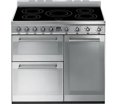 SMEG Symphony SY93I 90 cm Electric Induction Range Cooker - Stainless Steel Best Price, Cheapest Prices