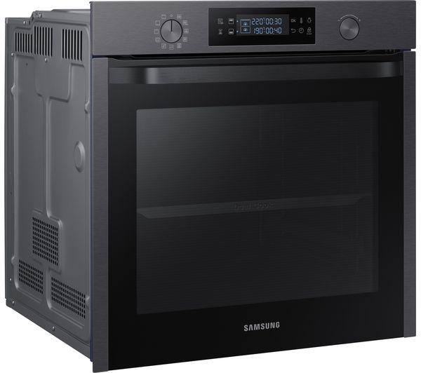 samsung dual cook nv75k5571 electric oven black fast. Black Bedroom Furniture Sets. Home Design Ideas