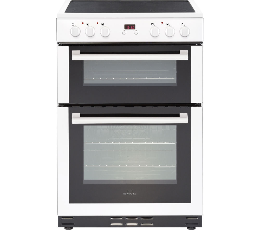NEW WORLD NW 60EDOMC WHT 60 cm Electric Ceramic Cooker - White