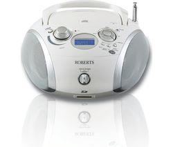ROBERTS ZoomBox3 DAB+/FM Boombox - White