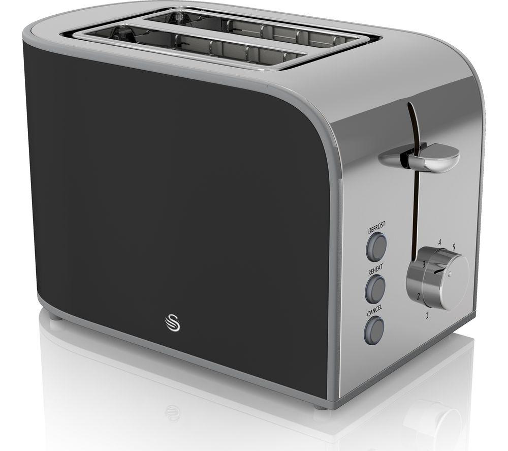 SWAN Retro ST17020BN 2-Slice Toaster - Black
