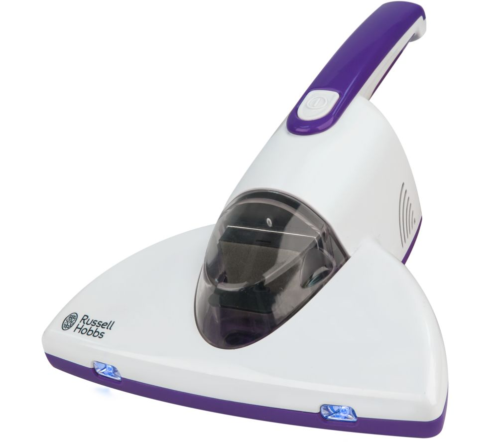 RUSSELL HOBBS RHBV1001 UV Antibacterial Bed Handheld Vacuum Cleaner - White & Purple