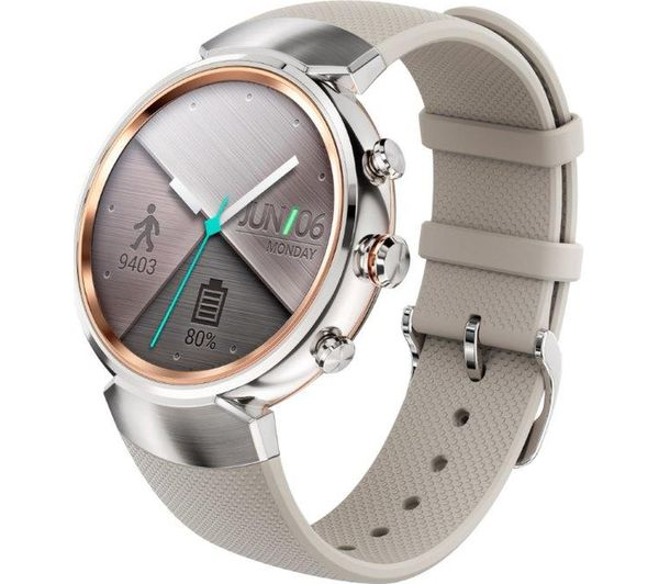 buy asus zenwatch 3 silver free delivery currys. Black Bedroom Furniture Sets. Home Design Ideas