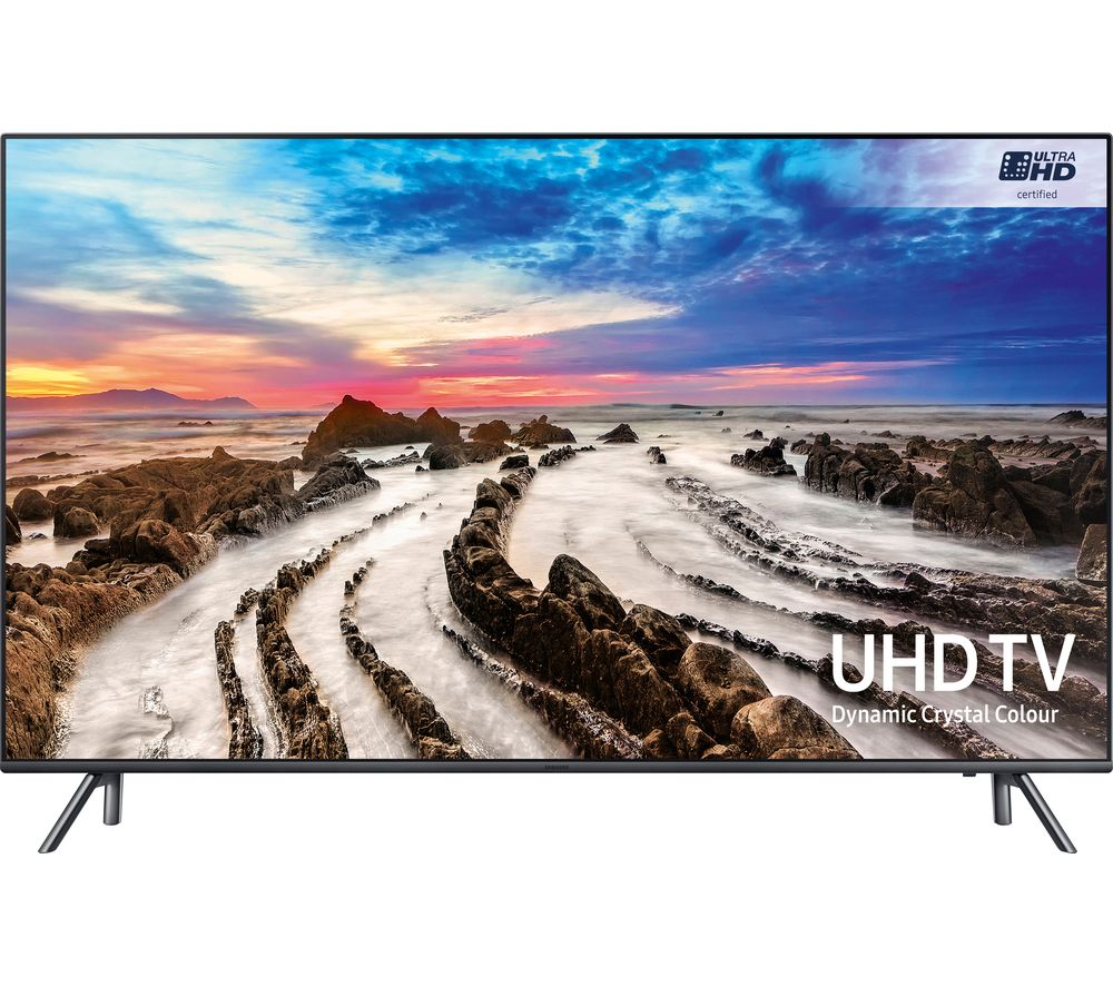 "SAMSUNG UE55MU7070 55"" Smart 4K Ultra HD HDR LED TV + SFLEZ14 Medium to Large Fixed TV Bracket"