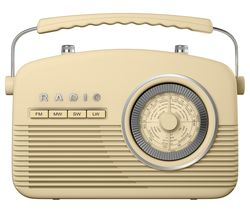 AKAI Portable FM/AM Retro Radio - Cream