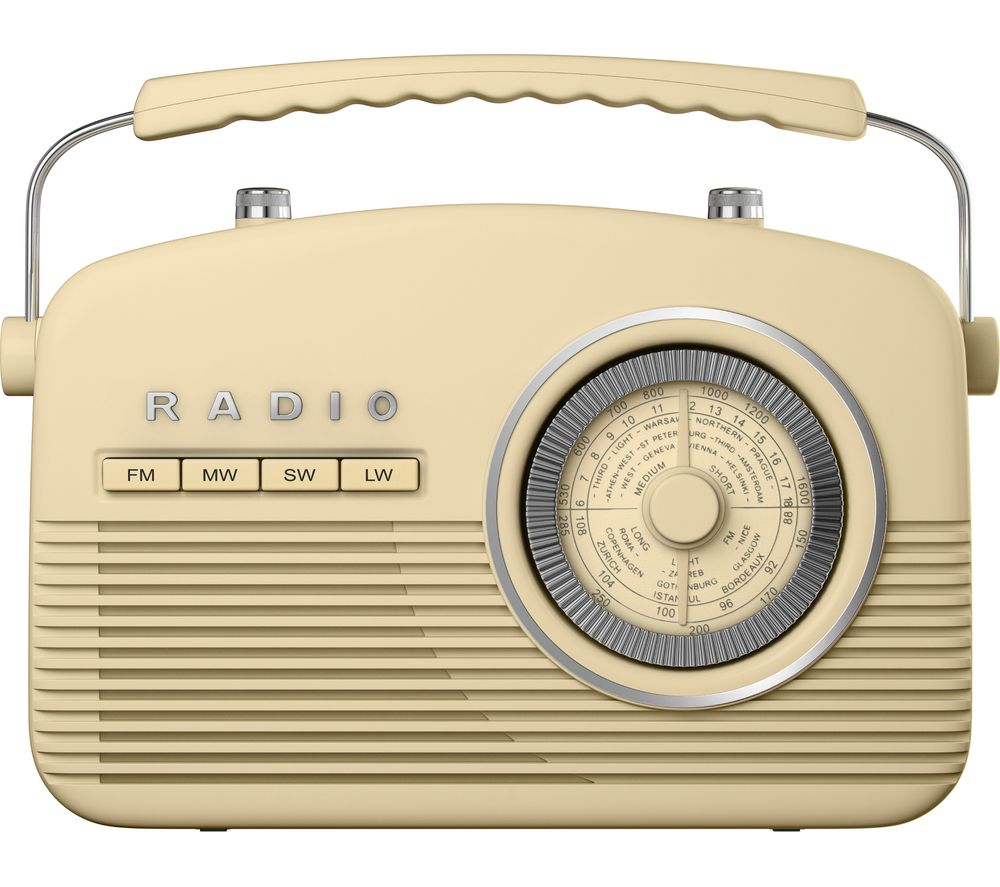 AKAI Portable Analogue Retro Radio - Cream