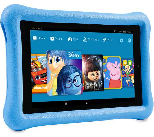 AMAZON Fire 7 Kids Edition Tablet (2017) - 16 GB, Blue + UltimaPro High  Performance Class 10 microSDHC Memory Card - 16 GB