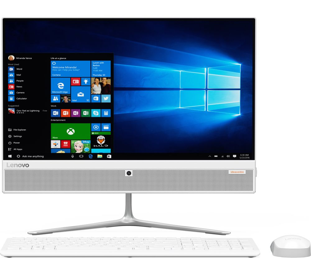 lenovo ideacentre 510 21 5 all in one pc white deals pc world. Black Bedroom Furniture Sets. Home Design Ideas