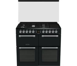 LEISURE Chefmaster CC100F521T 100 cm Dual Fuel Range Cooker - Anthracite Best Price, Cheapest Prices